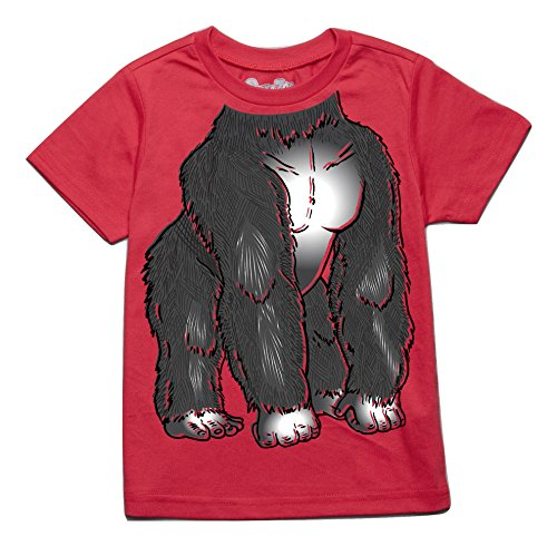 Peek-A-Zoo Infant Baby Become an Animal Short Sleeve T Shirt - Gorilla Red (18/24 -