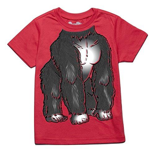 Peek-A-Zoo Toddler Become an Animal Short Sleeve T Shirt - Gorilla Red (5T)