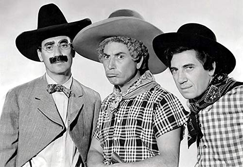 The Marx Brothers - Go West - Movie Still Poster