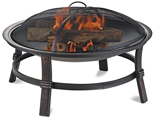Endless Summer WAD15121MT Brushed Copper Wood Burning Outdoor Fire (Large Image)