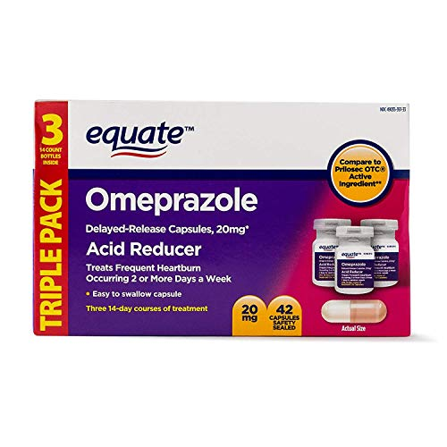 Equate - Omeprazole Magnesium 20.6 mg, Acid Reducer, Delayed Release, 42 Capsules (1) ()