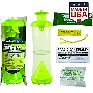 RESCUE! WHY Trap for Wasps, Hornets, Yellowjackets – Hanging Outdoor Trap