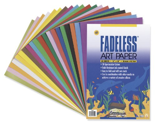 "Pacon Assorted Fadeless(R) Sheets, 12"" x 18"", Pack Of 60"