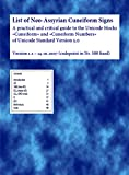 List of Neo-Assyrian Cuneiform Signs v1.2 2007 (A practical and critical guide to the Unicode blocks Cuneiform and Cuneiform numbers of Unicode standard version 5.0 codepoint nr588 fixed)