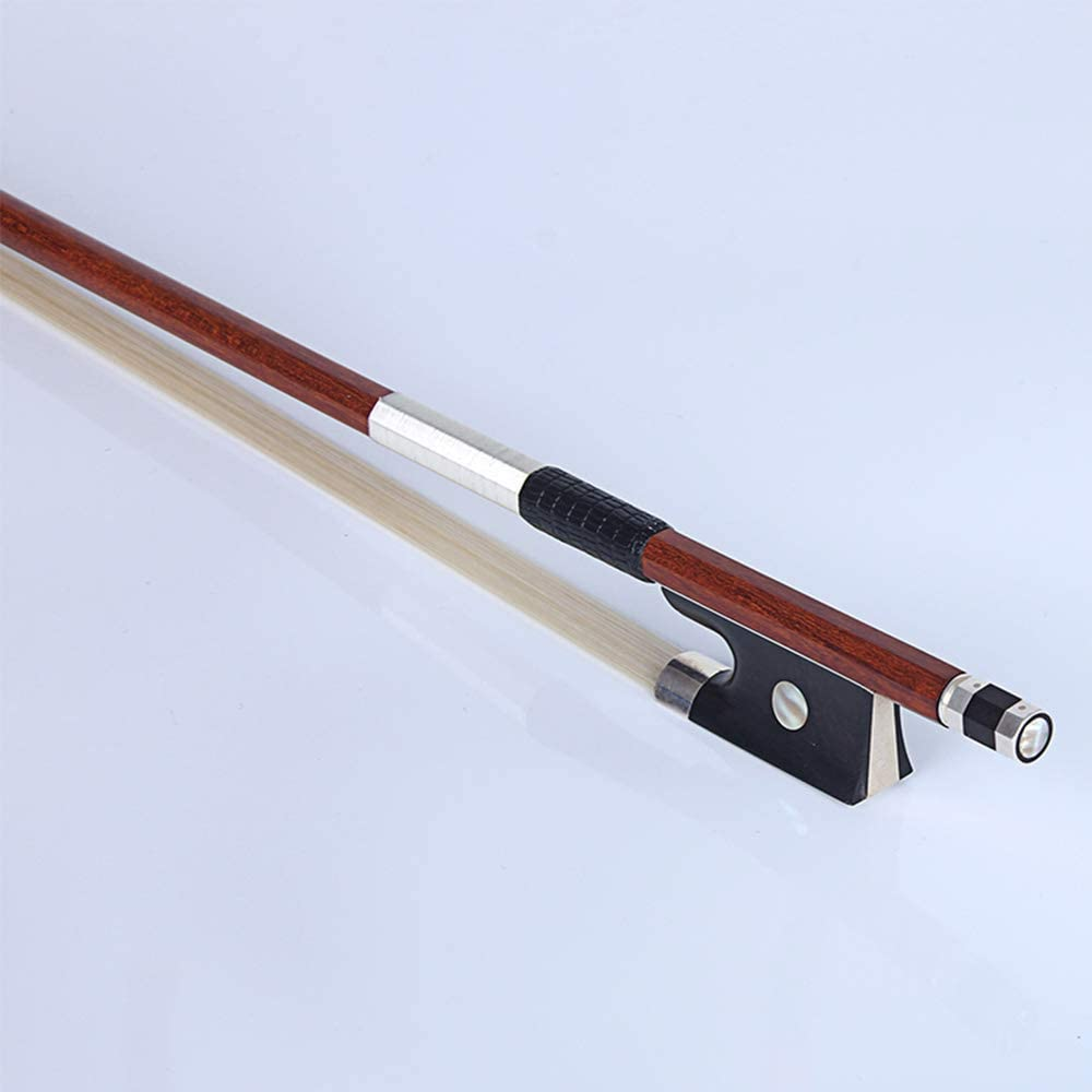 Violin Bow Practice Rod Violin Standard Bow Brazilwood Bow Musical Instrument for Beginner and Children Cost-effective and Good Quality