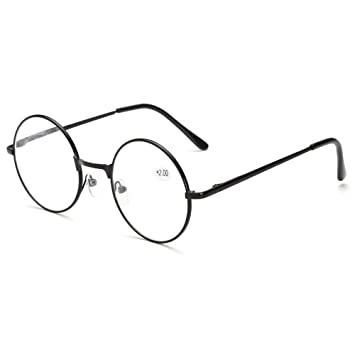 fe2402df6a2d Skitic Unisex Round Metal Frame Magnifier Reading in  Amazon.co.uk   Electronics