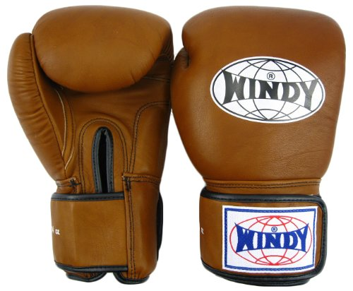 - Windy Thai Style Training Gloves-12oz.-Natural Leather