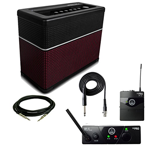 Line 6 AMPLIFi 75 with AKG WMS40 MINI Wireless Instrumental Set by Line 6