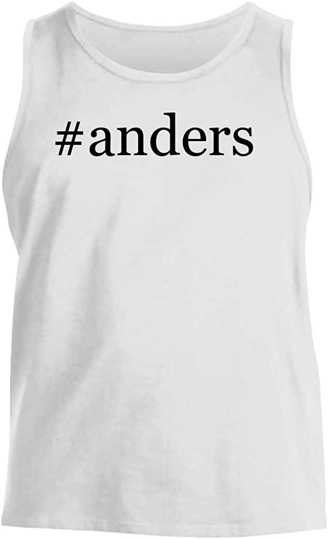 #Anders - Men'S Hashtag Comfortable Tank Top, White, Large