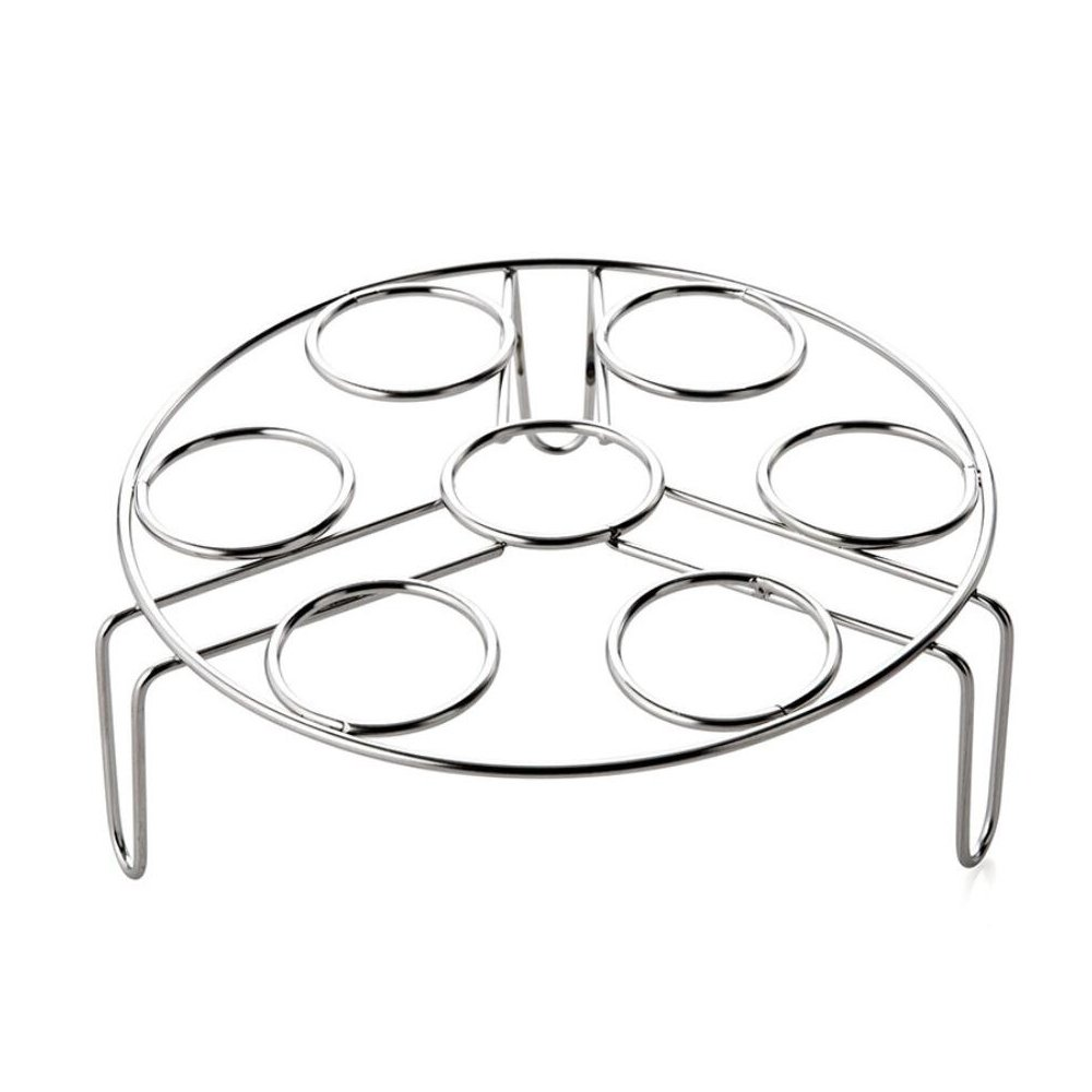 Acero inoxidable HUEVERA soporte 7 anillos de huevo cocina vapor ...