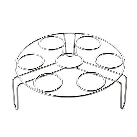 Acero inoxidable HUEVERA soporte 7 anillos de huevo cocina vapor eggassist para hogar cocina: Amazon.es: Hogar