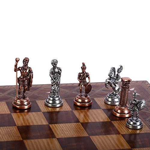 (CHESSLANDTR Antique Copper Roman Figures Handmade Cool Chess Pieces King 2.8 (Board is not Included))