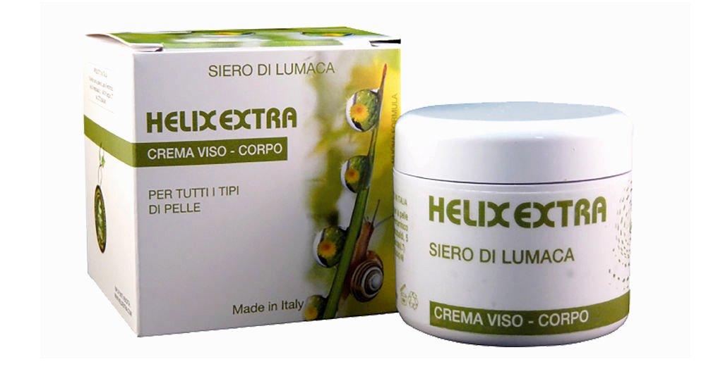 Helix Extra Crema Viso Bava di Lumaca 100 % Made in Italy 30ml coadiuvante acne rughe cicatrici macchie della pelle smagliature verruche - anti age anti-età antirughe ristrutturante idratante antietà antiage anti-age Amici per la pelle