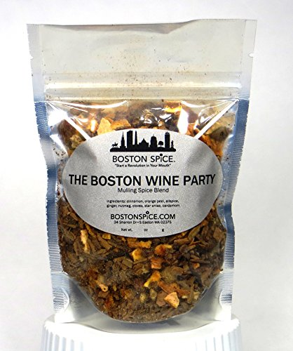 Shiraz Blend - Boston Spice The Boston Wine Party Mulling Spice Blend for Making Warm and Cold Mulled Wine and Apple Cider (Approx. 1 Cup of Spice)