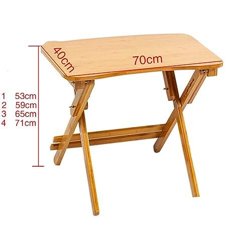 Amazon.com: Mesa plegable de madera para TV, portátil ...
