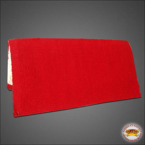 HILASON Made in USA Western Acrylic Wool Felt Horse Rodeo Saddle PAD Blanket RED