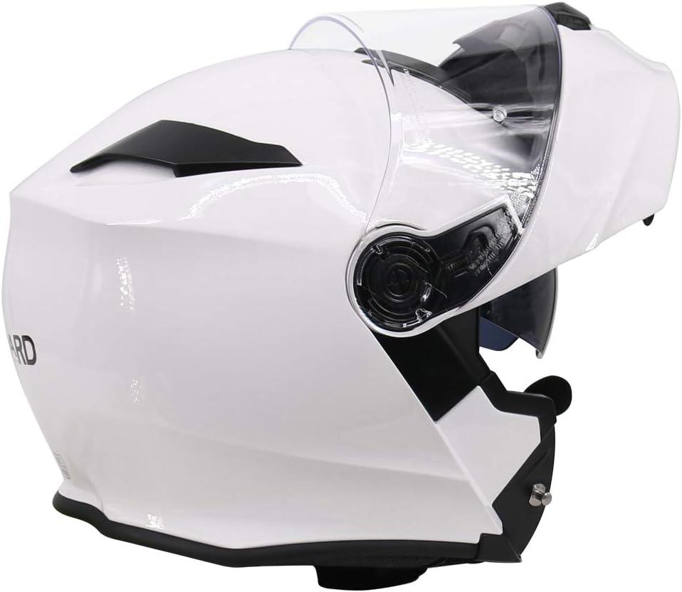 XS Blanco Leopard LEO-727 Casco de Moto con Bluetooth Integrado Modular Flip Cara Moto Casco Motocicleta ECE 22.05 Cara Completa Racing 53-54cm