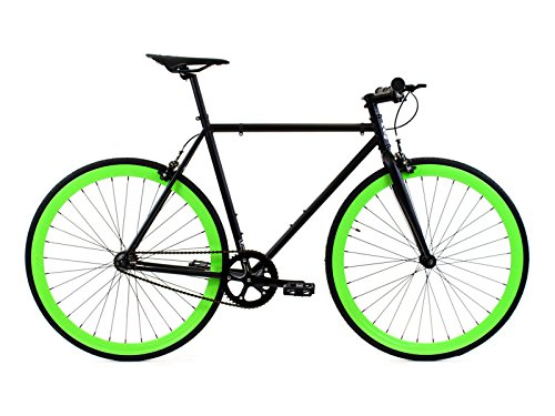 Golden Cycles Fixed Gear Bike Steel Frame Fixie with Deep V Rims Collection (Benjamin, 45)