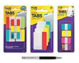 Post-it Tabs Bundle, Assorted Colors, 1 and 2-Inch Sizes, 226 Tabs Total - Bundle Includes Plexon Ballpoint Pen