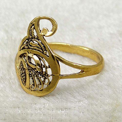 Banithani plaqué or Indian Band Designer Wedding Ring Party bijoux Giftr pour elle