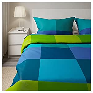 Amazon Com Ikea Brunkrissla Twin Duvet Cover And Pillow