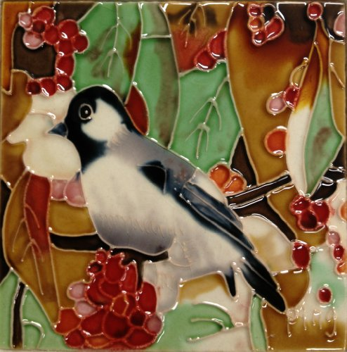 Continental Art Center SD-036 4 by 4-Inch Chickadee Ceramic Art Tile from Continental Art Center