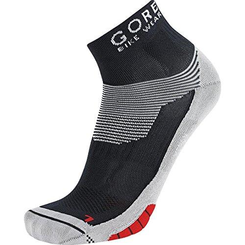 GORE BIKE WEAR Rennrad-Socken, GORE Selected Fabrics, XENON Socks, Größe 41-43, Schwarz/Rot FEXENM