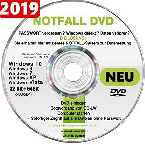 Recovery   Repair CD DVD für WINDOWS 10 Win 8 Windows 7 Vista XP Lösung bei 18d77f8e1a