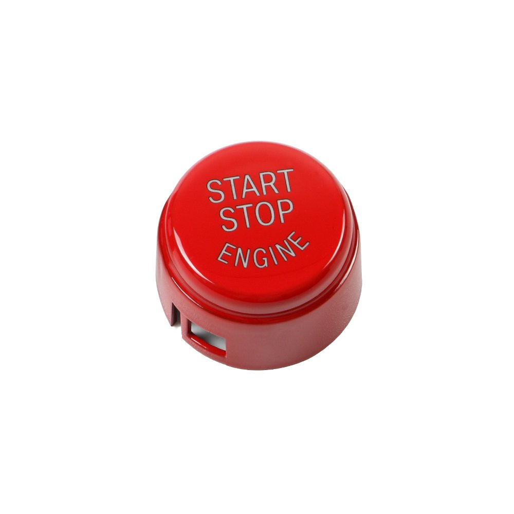 KKmoon Coperchio del pulsante del motore dell'automobile per BMW E Chassis con Argilla appiccicosa, Rosso