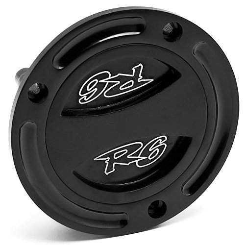 Krator Black Keyless Gas Cap Twist Off Fuel Tank Cap Logo For Yamaha FZ1 / FZS1000 2001-2015 KapscoMoto