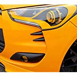 SEQUENCE Front Head Lamp Devil's Claw Point Molding 4-pc Set For 2011 2012 2013 Hyundai Veloster
