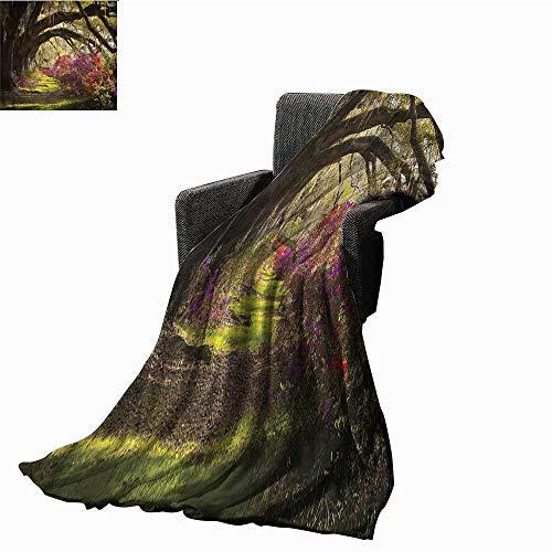 Anzhutwelve Blankets Nature,Mystical Garden Flourishing Throw Rug Sofa Bedding W70 x L50 inch