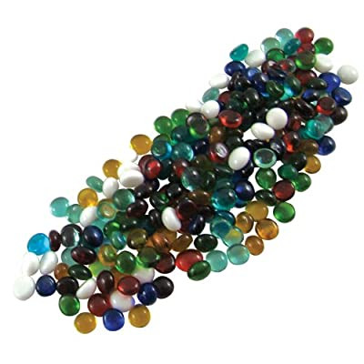 Jennifer's Mosaics Color Variety 3/8-Inch Small Glass Gems, Assorted Colors, 1-Pound