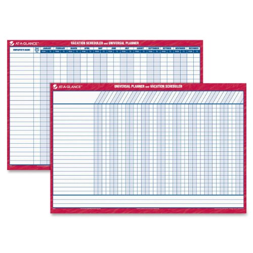 AT-A-GLANCE Undated Erasable Universal Vacation Scheduler; 36 x 24 Inches (PM250-28)