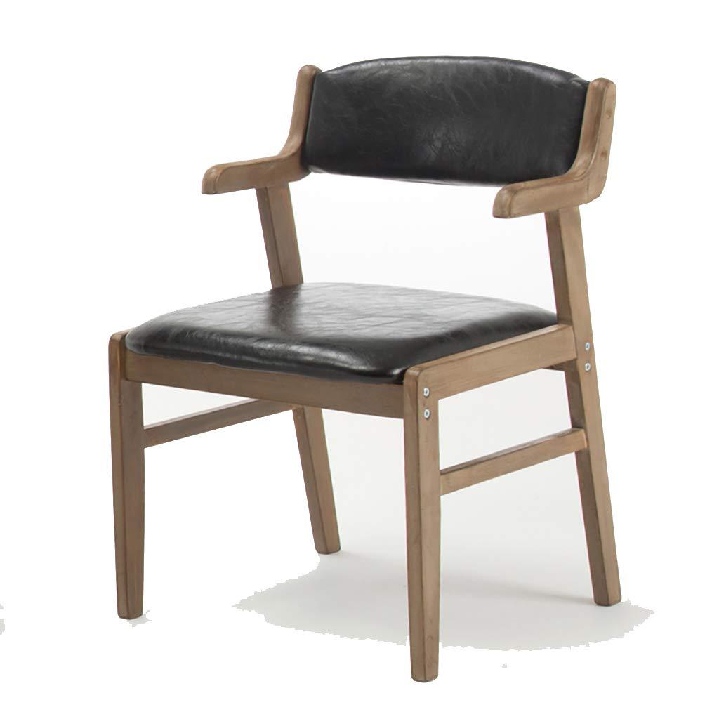 椅子 ダイニングチェア、ソリッドウッドダイニングチェア北欧チェア研究アームレストラウンジチェアホテルレストランチェア、5色 (色 : D) B07JWDWLSV D D