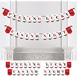Las Vegas - Casino Party Bunting Banner - Party Decorations - Feeling Lucky Casino Night
