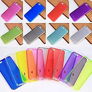 New Soft Back Clear Transparent Case Cover Skin For iPhone 6(Assorted Colors) , Translucent