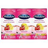 Health & Personal Care : Pedialyte Electrolyte Powder, Electrolyte Drink, Strawberry Lemonade, Powder Sticks, 0.6 oz (3-6 Packs)