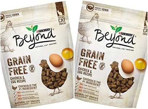 2 Bags of Purina Beyond Chicken Egg Recipe Grain-Free Cat Treats 2.1-oz ea