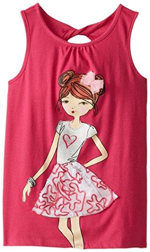 The Children's Place Big Girls' Graphic Tank, Fiesta Pink, Medium/7/8