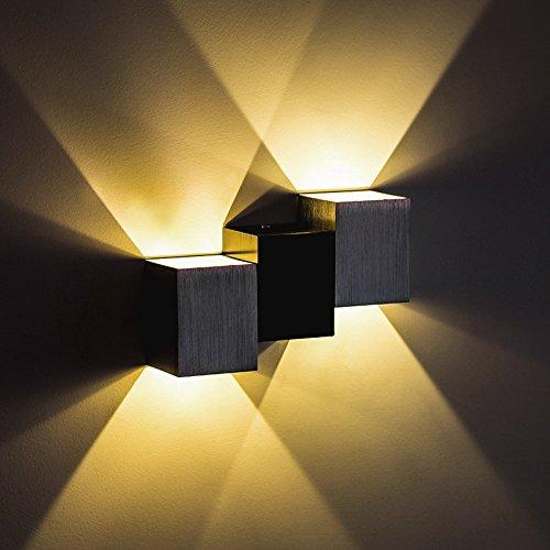 JiuRui LED Light & Lamp Per l'illuminazione dell'interno della cucina del salone di stile moderno 1PCS, lampade di parete del LED su luce (Colore   Warm bianca)