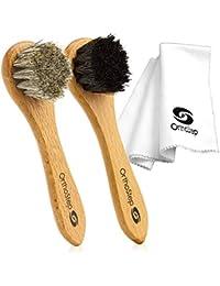 Pro Wood Handle Bristle Hair Brush Shoe Boot Polish Shine Cleaning Daube NEW S