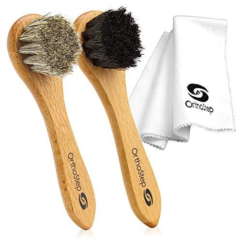 OrthoStep 3pc Shoe Shine Kit - Shoe Brush and