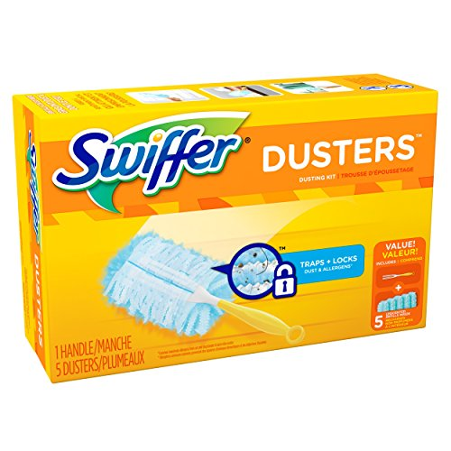 Swiffer 180 Dusters Starter Kit, Unscented, with 5 Refills>