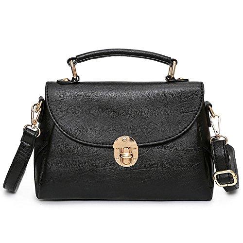 Handbag Hombro Bolsa Temperamento Solo GWQGZ Lady Casual Ocio Spanning Nuevo Negro Black Clásico Minimalista Sesgar qzpIHv
