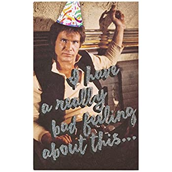American Greetings Funny Star Wars Birthday Card With Glitter