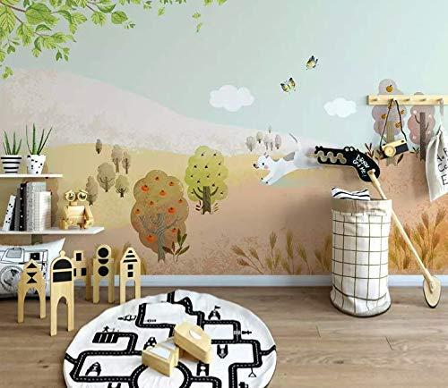 . Amazon com  Murwall Kids Wallpaper Fruit Tree Wall Mural Cartoon