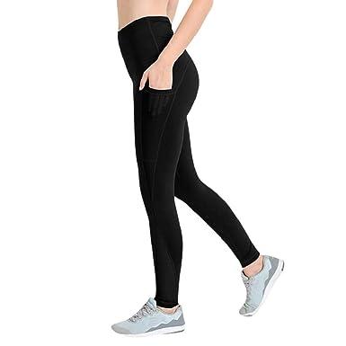 349fa606435 REYO Women's Yoga Pants Fitness Leggings Running Stretch Sports Women  Trousers Sweatpants Black