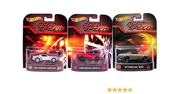 Amazon Com Need For Speed Hot Wheels 3 Car Set Pontiac Gto