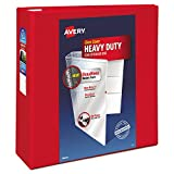 "Avery Heavy-Duty View Binder with 4"" One Touch EZD Rings, Red (79326)"